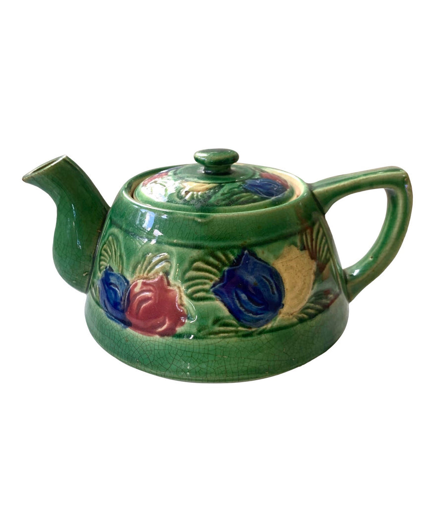 Late 19th Century Floral Tea Pot - Matthew Izzo Home