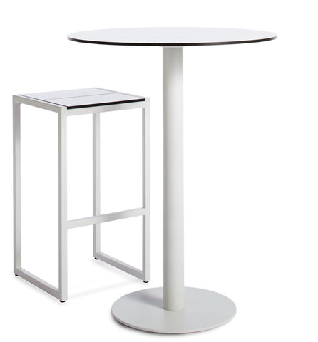 Blu Dot Skiff Outdoor White Bar Height Table - Matthew Izzo Home