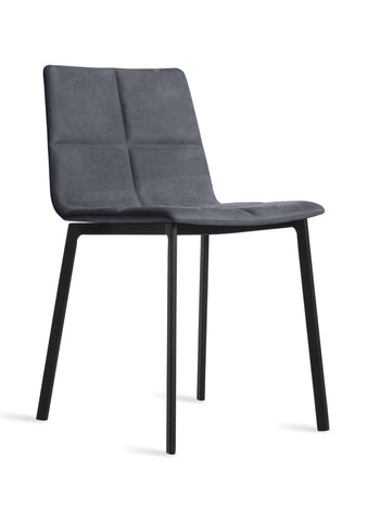 Blu Dot Between Us Ink Leather Modern Dining Chair - Matthew Izzo Home