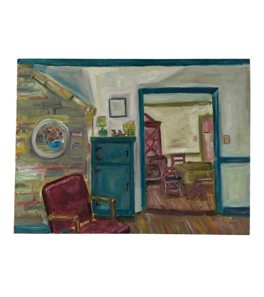 Original Oil Painting of an Interior - Matthew Izzo Home