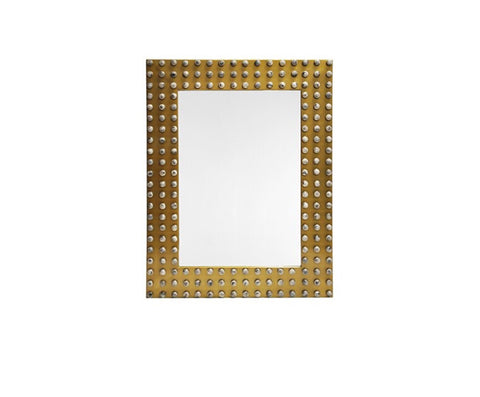 Worlds Away Sula Studded Wall Mirror - Matthew Izzo Home