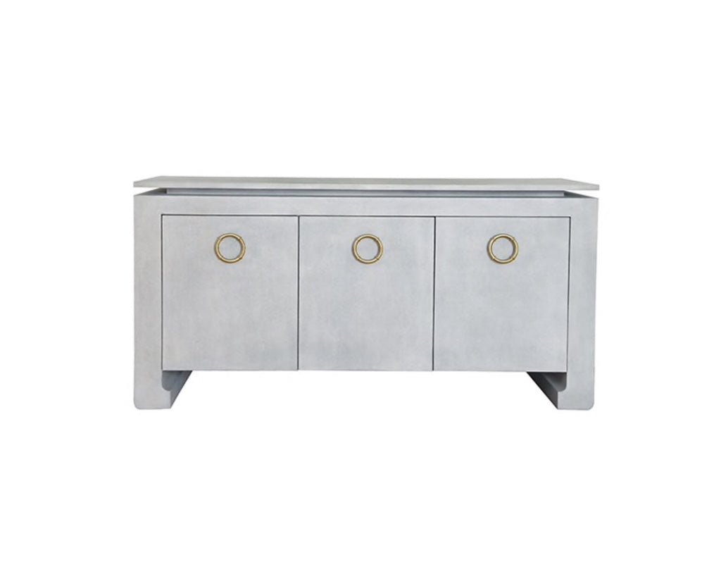 Worlds Away Tilley Light Grey Buffet - Matthew Izzo Home