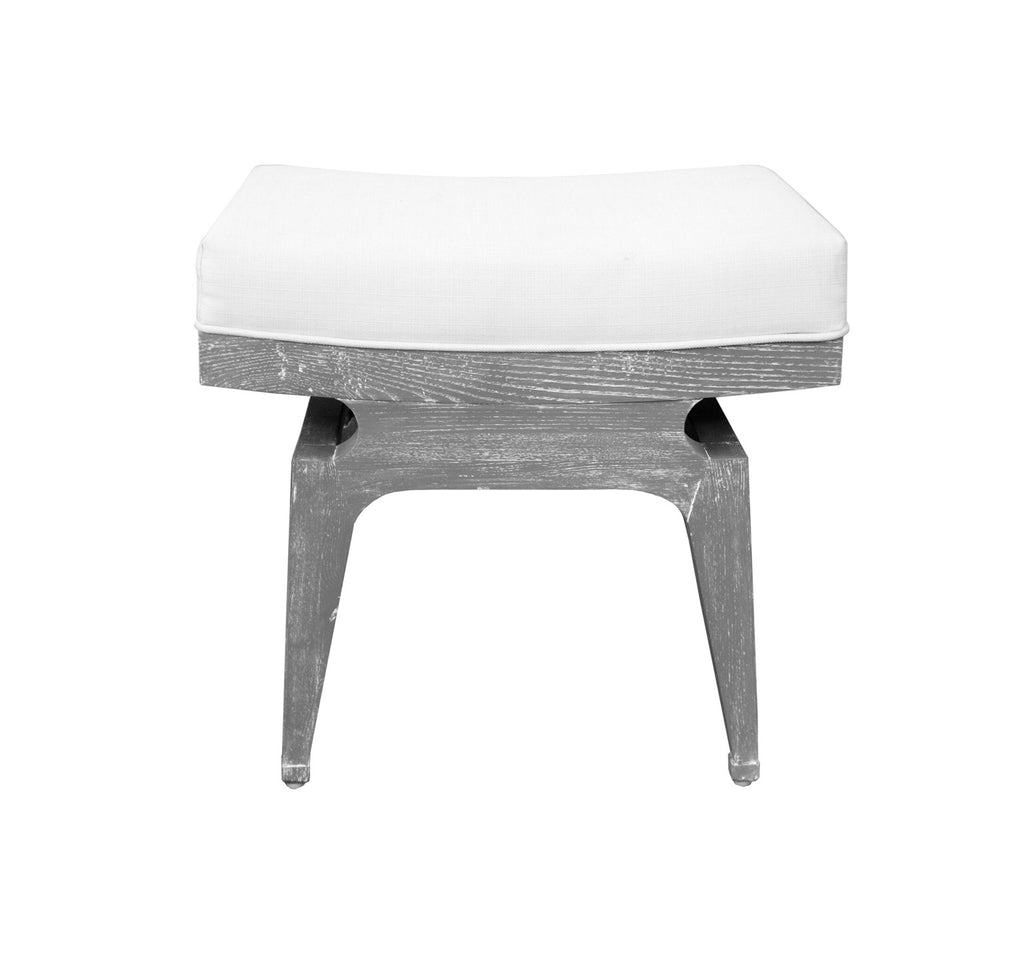 Worlds Away Fergie Grey Cerused Oak Stool - Matthew Izzo Home