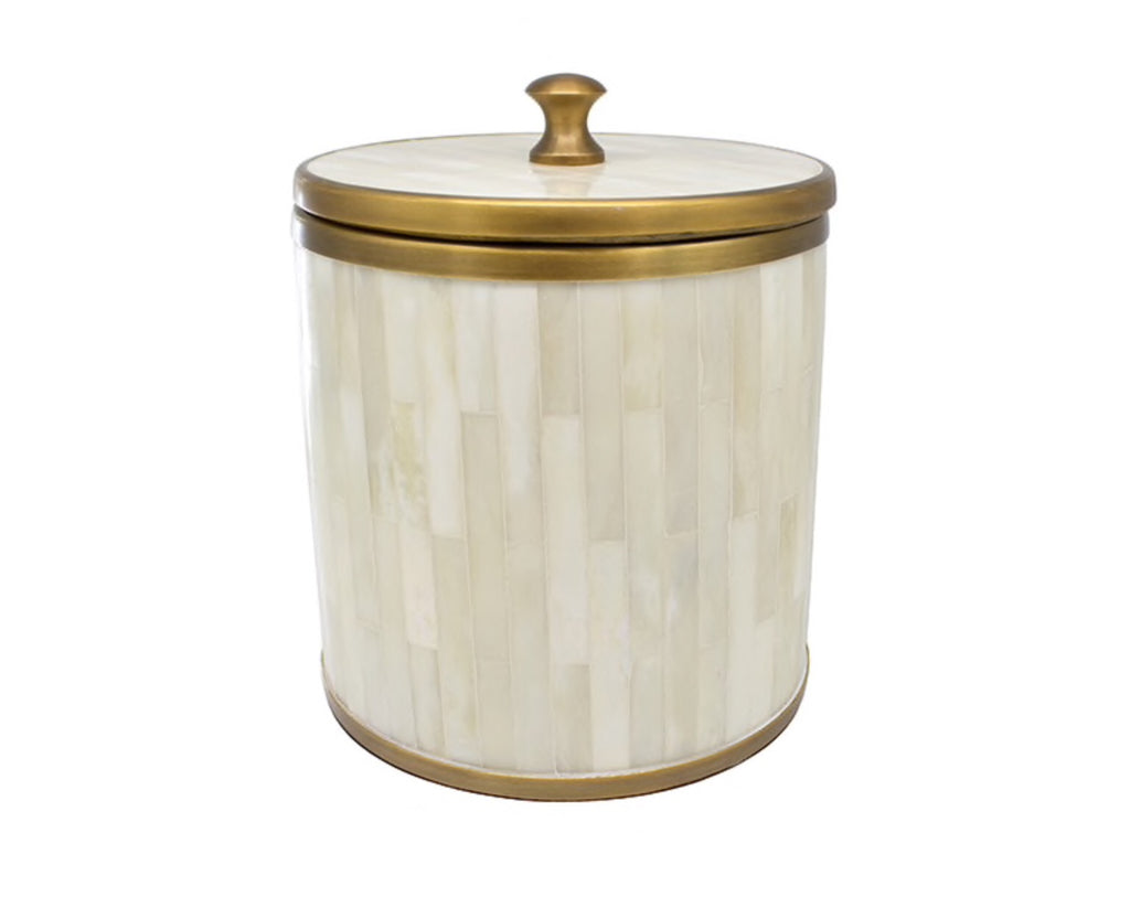 Worlds Away Skylar Natural Bone Ice Bucket - Matthew Izzo Home