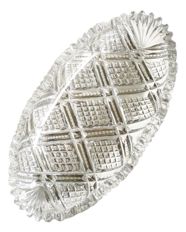 Vintage Lead Cut Crystal Serving Dish - Matthew Izzo Home