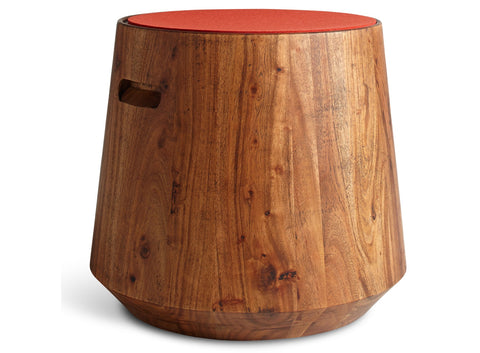 Blu Dot Turn Acacia/Mango Stool - Matthew Izzo Home