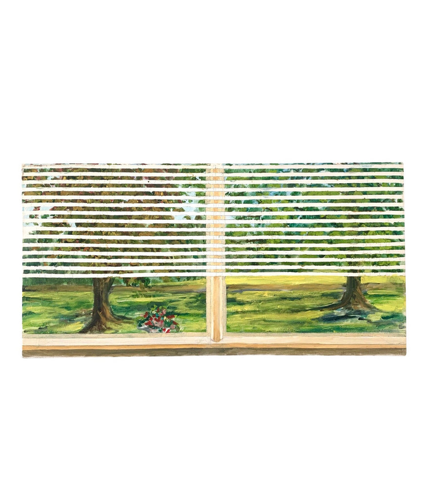 Two Trees in Window, Oil Painting on Canvas - Matthew Izzo Home