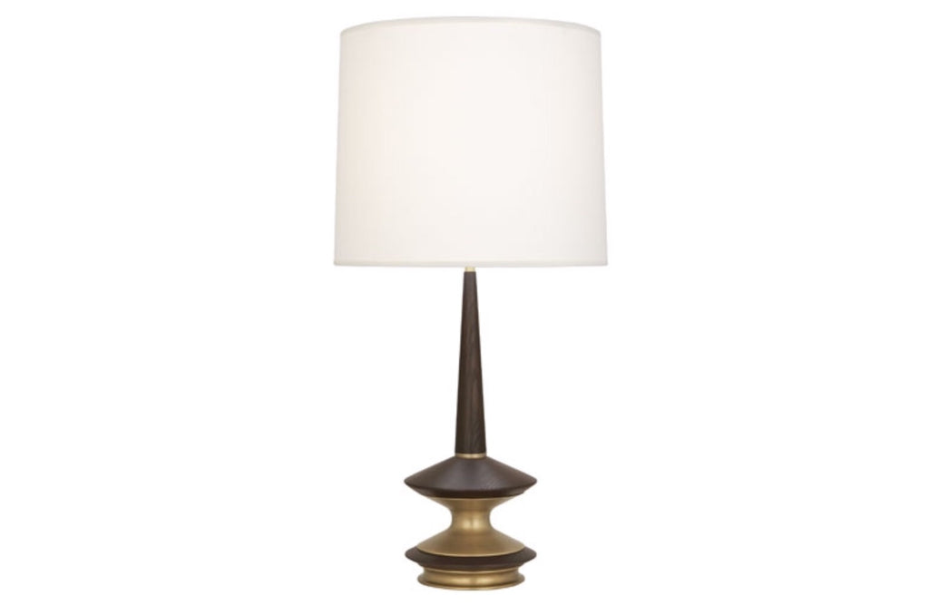 Robert Abbey Fletcher Brass/Walnut Table Lamp - Matthew Izzo Home