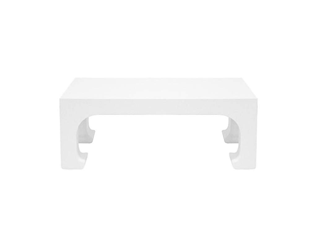 Worlds Away Nicola White Lacquer Coffee Table - Matthew Izzo Home
