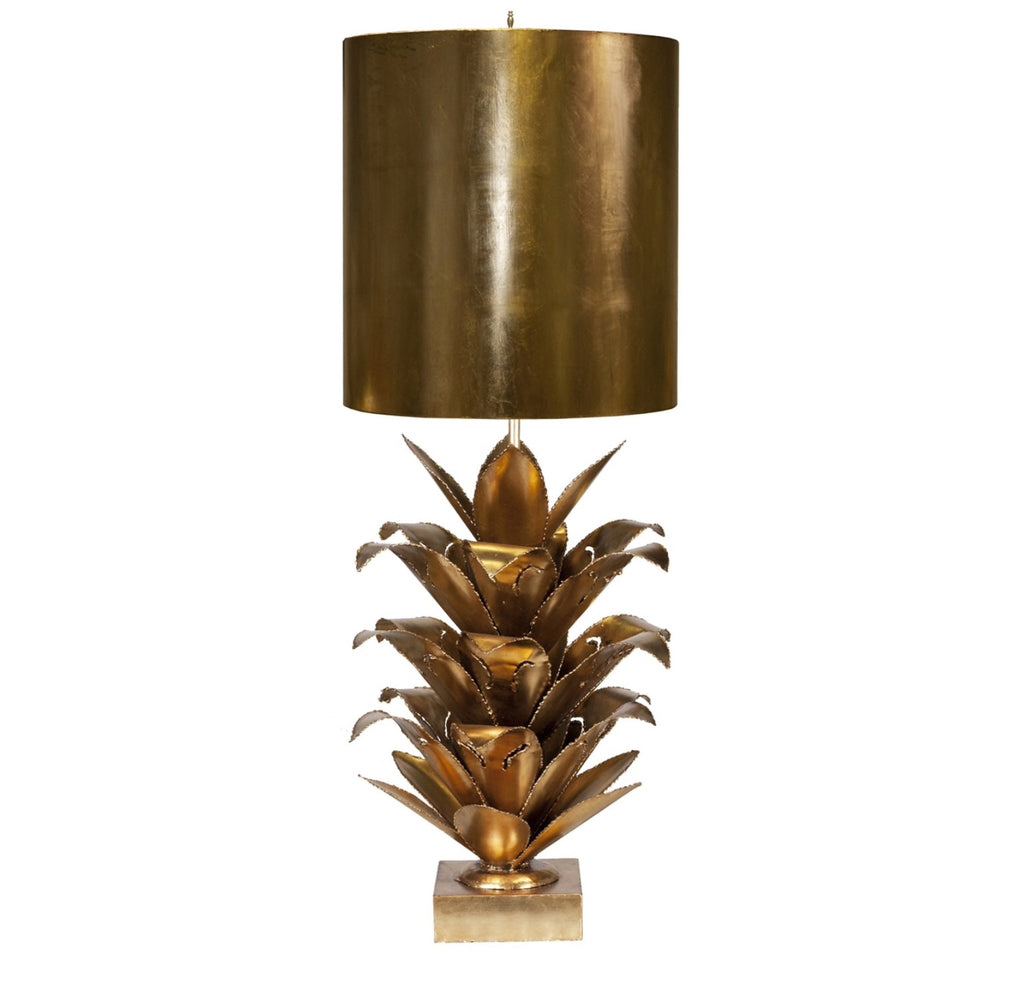 Worlds Away Arianna Gold Leaf Table Lamp - Matthew Izzo Home