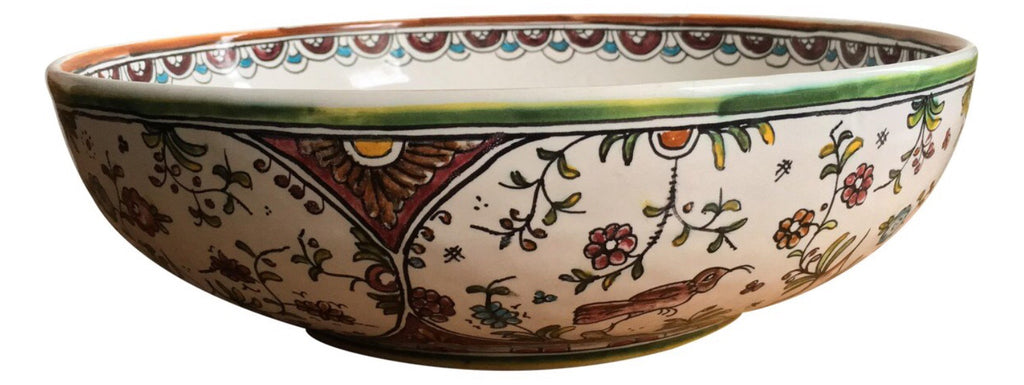 Hand-Painted Large Serving Bowl - Matthew Izzo Home
