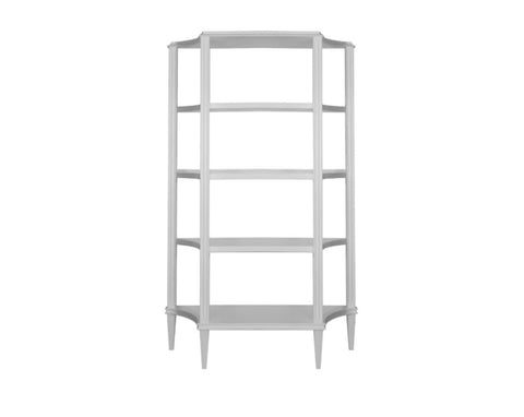 Worlds Away Bronte White Etagere - Matthew Izzo Home