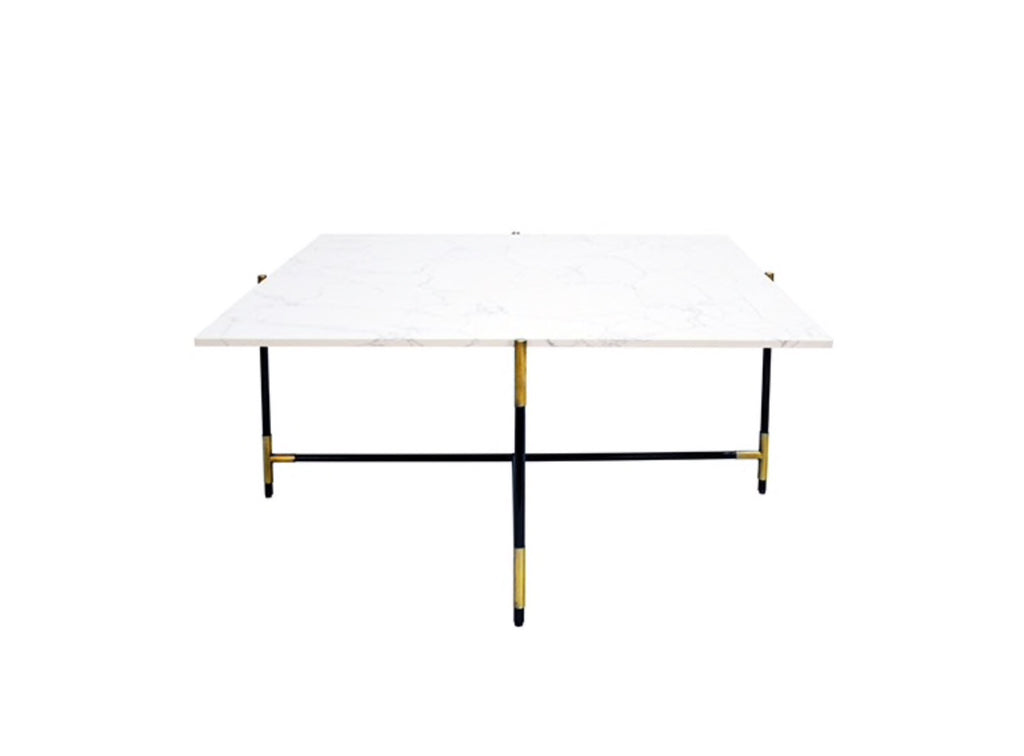 Worlds Away Zelda Antique Brass Coffee Table - Matthew Izzo Home