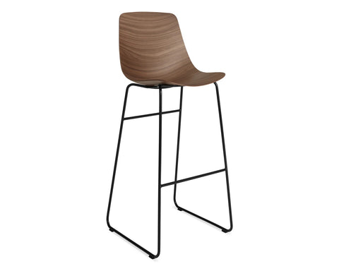 Blu Dot Clean Cut Walnut Barstool - Matthew Izzo Home