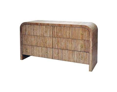 Worlds Away Valentina Dark Cerused Oak Chest - Matthew Izzo Home