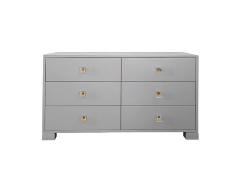 Worlds Away Louise Matte Grey Dresser - Matthew Izzo Home