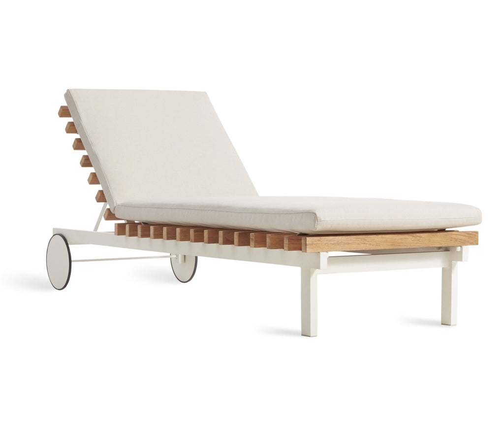 Blu Dot Perch Sunbrella Linen Outdoor Sun Lounger - Matthew Izzo Home