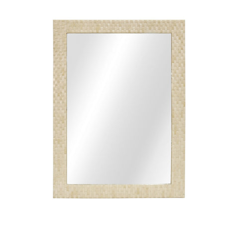 Worlds Away Brooklyn Rectangular Basket Weave Mirror - Matthew Izzo Home