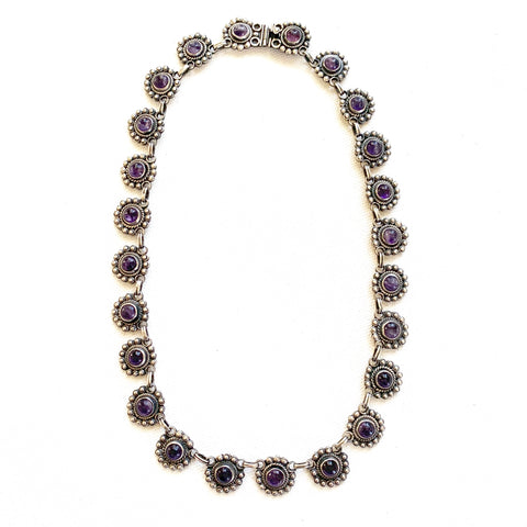 1980s Sterling and Amethyst Necklace - Matthew Izzo Home