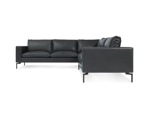 Blu Dot New Standard Left Leather Sectional Sofa - Small - Matthew Izzo Home