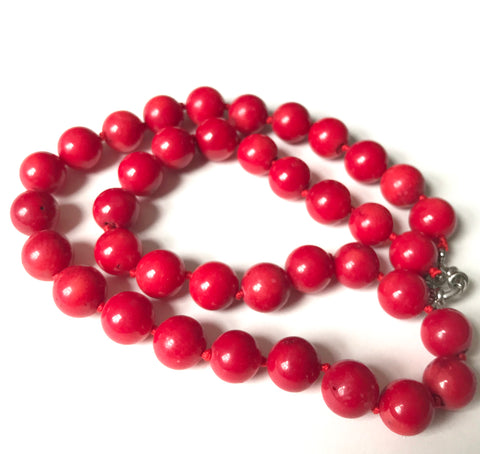 Exquisite vintage Chinese red coral necklace - Matthew Izzo Home