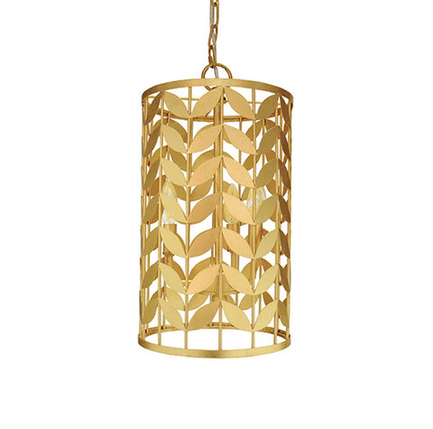 Worlds Away Bloom Gold Leaf Pendant Light - Matthew Izzo Home