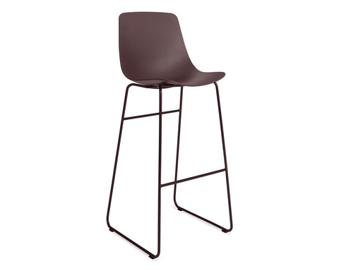 Blu Dot Clean Cut Oxblood Barstool - Matthew Izzo Home