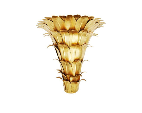 Worlds Away Mariana Gold Leaf Wall Bracket - Matthew Izzo Home