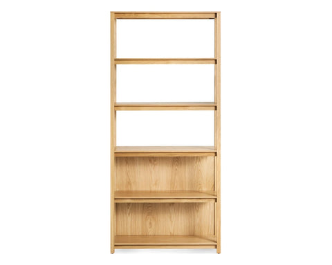 Blu Dot Open Plan White Oak Tall Bookcase - Matthew Izzo Home