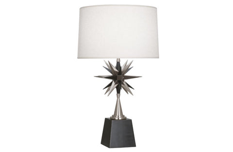 Robert Abbey Cosmos Nickel Table Lamp - Matthew Izzo Home