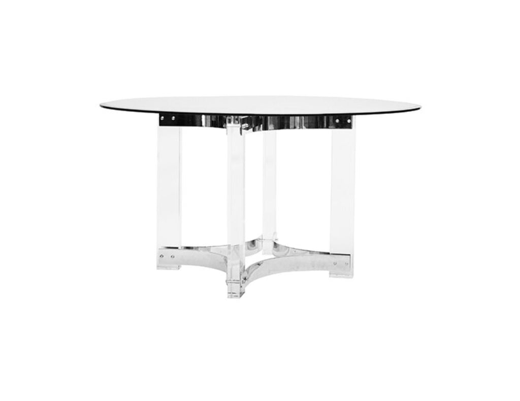 "Worlds Away Hendrix Nickel Round 48"" Dining Table"