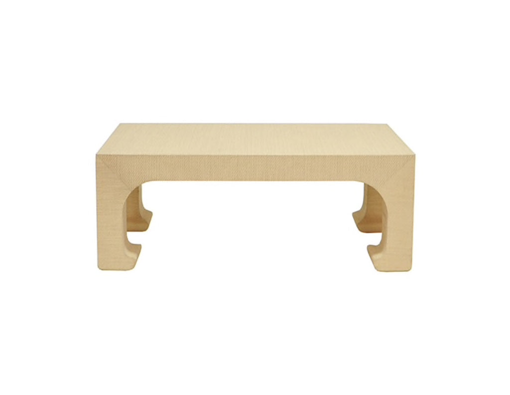 Worlds Away Nicola Grasscloth Coffee Table - Matthew Izzo Home