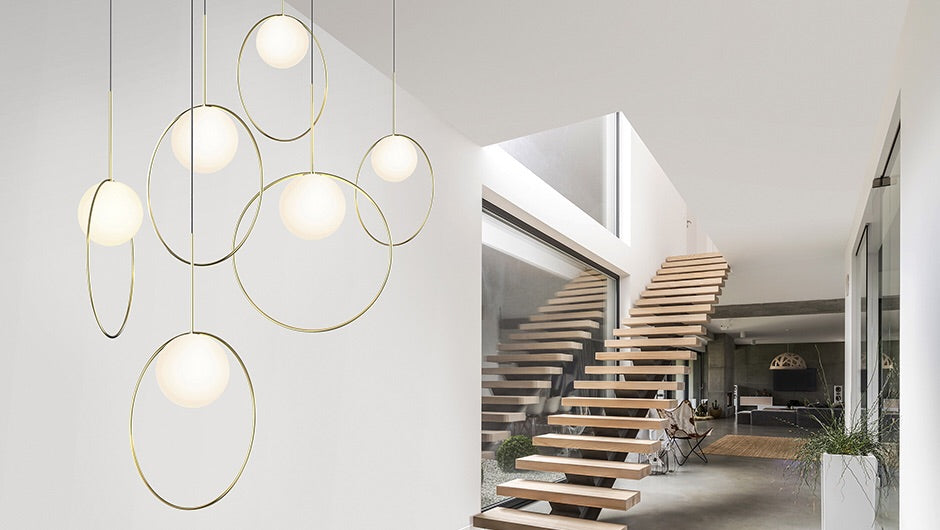 Pablo Designs Bola Halo Modern Multi Light Pendant - Matthew Izzo Home