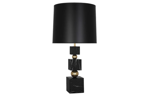 Jonathan Adler Totem Black Marble/Black Table Lamp - Matthew Izzo Home