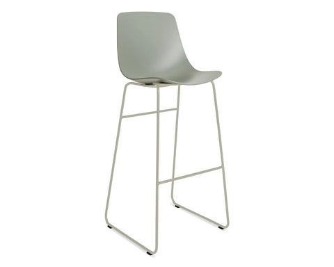 Blu Dot Clean Cut Grey Green Barstool