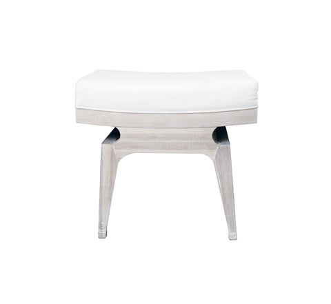 Worlds Away Fergie Cerused Oak Stool - Matthew Izzo Home