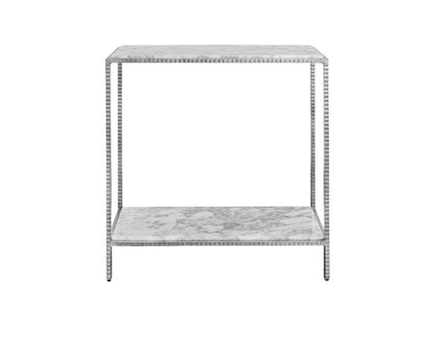 Worlds Away Seton Small Silver Leaf Console Table - Matthew Izzo Home