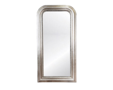 Worlds Away Waverly Silver Leaf Floor Mirror - Matthew Izzo Home