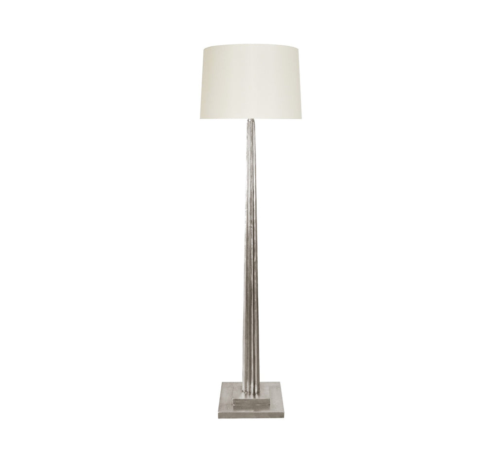 Worlds Away Capone Silver Leaf Floor Lamp - Matthew Izzo Home