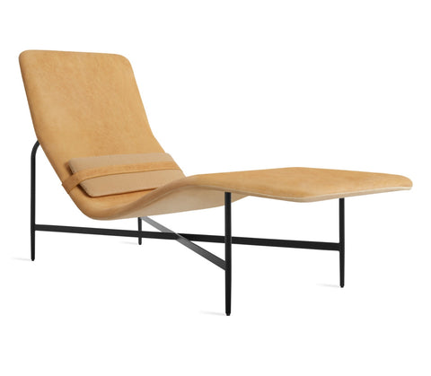 Blu Dot Deep Thoughts Leather Chaise Lounge Chair - Matthew Izzo Home