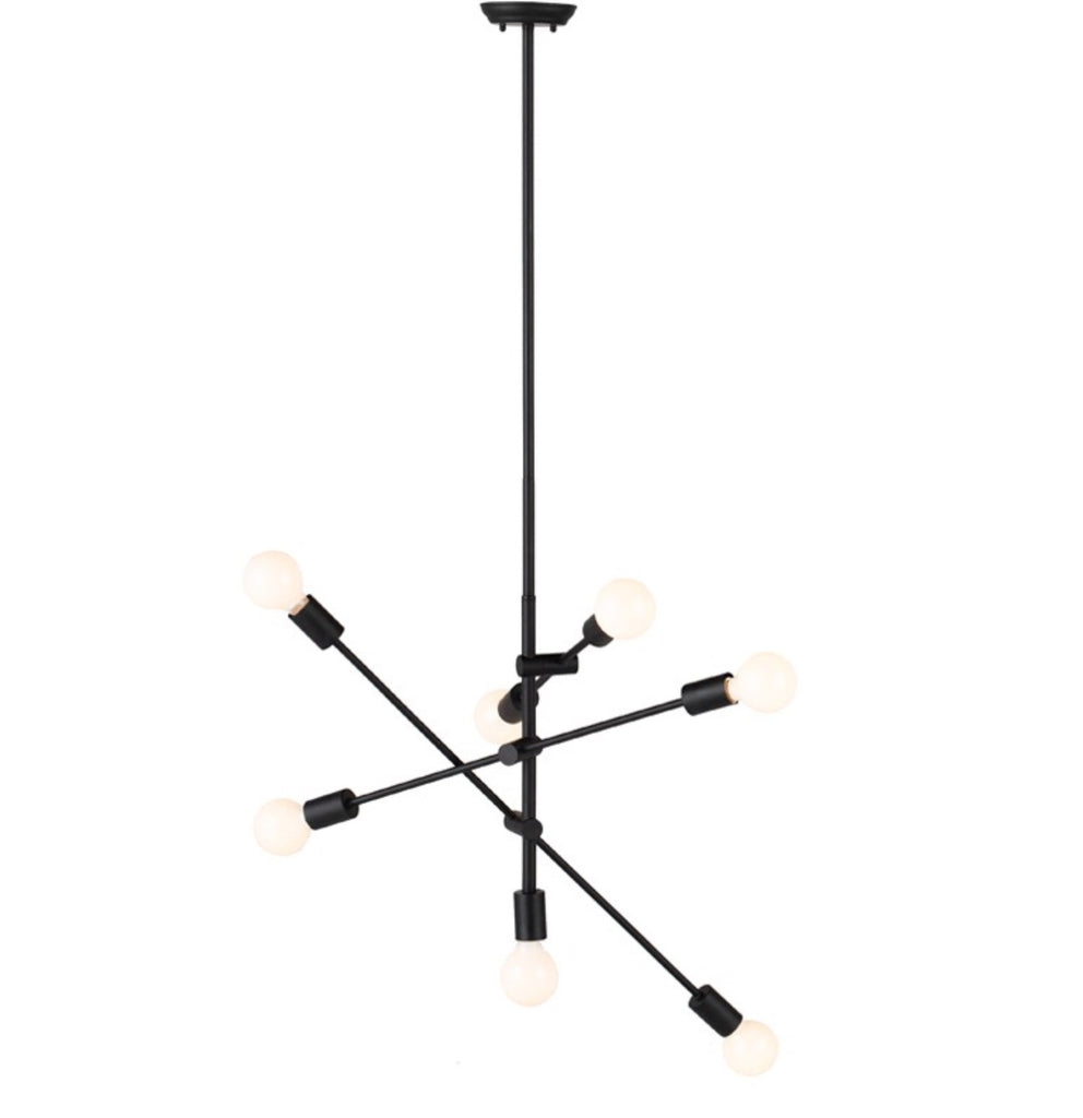 Nuevo Living Byron Matte Black Multi-Light Pendant - Matthew Izzo Home