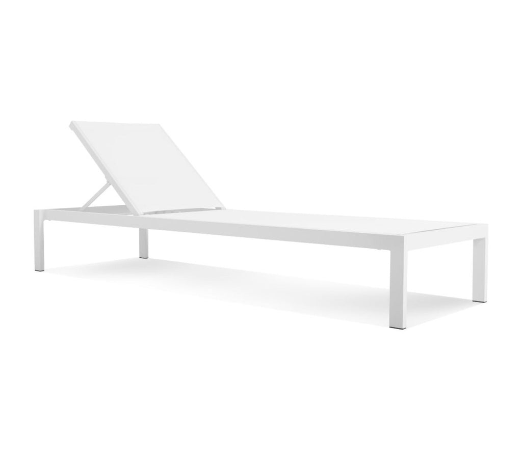 Blu Dot Skiff White Outdoor Sun Lounger - Matthew Izzo Home