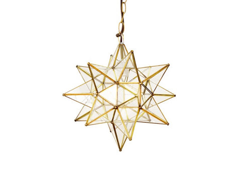 Worlds Away Brass Large Star Pendant - Matthew Izzo Home