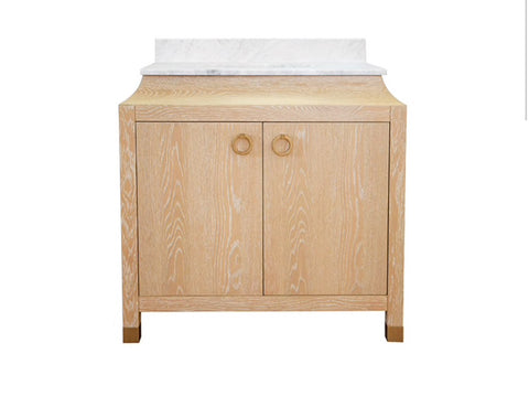 Worlds Away Bree Cerused Oak Bath Vanity - Matthew Izzo Home