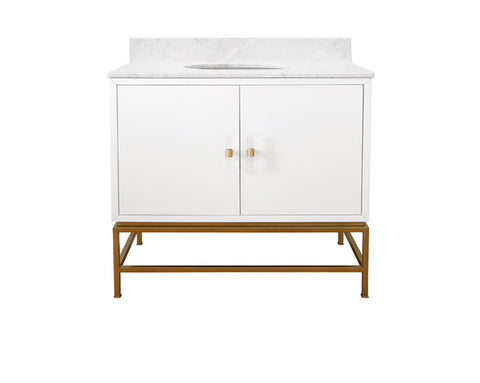Worlds Away Clifford White Bath Vanity - Matthew Izzo Home