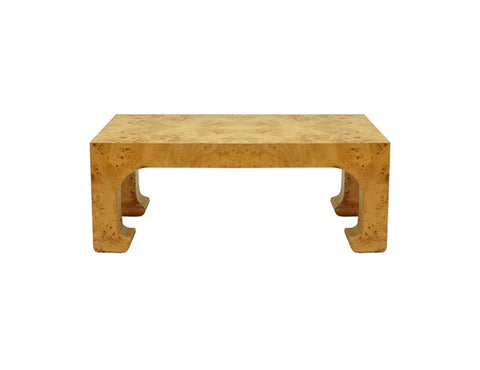 Worlds Away Nicola Burl Wood Coffee Table - Matthew Izzo Home
