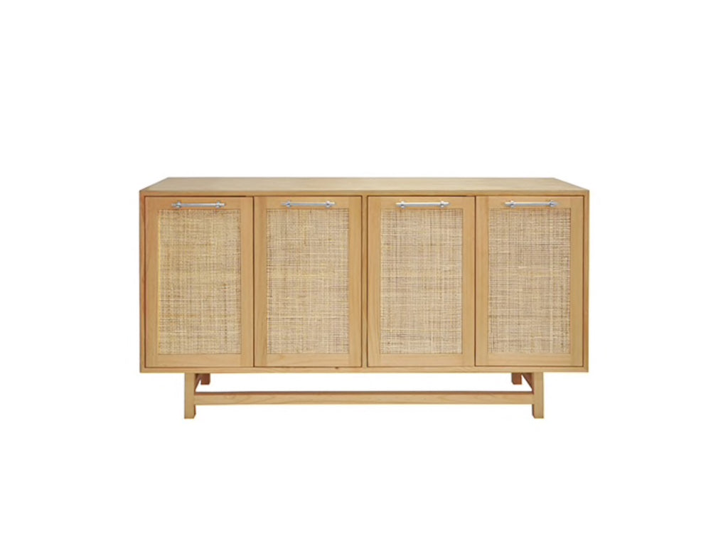 Worlds Away Macon Nickel/Pine Wood Buffet Cabinet - Matthew Izzo Home