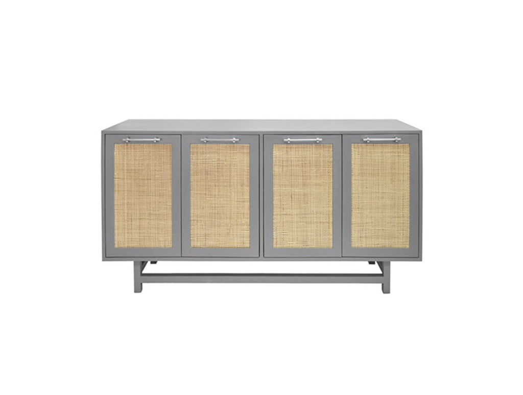 Worlds Away Macon Nickel/Grey Lacquer Buffet Cabinet - Matthew Izzo Home