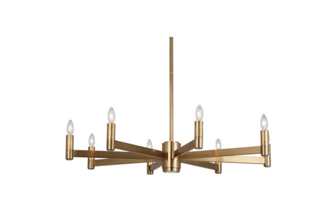 Robert Abbey Delany Brass Regency Chandelier - Matthew Izzo Home