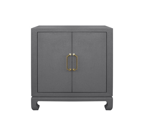 Worlds Away Renwick Grey Lacquer Accent Chest - Matthew Izzo Home